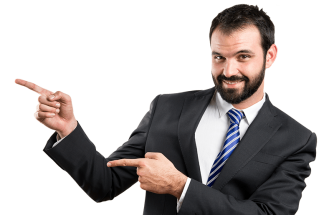 image businessman pointing